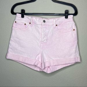 LEVI'S Pink High Rise Wedgie Jean Shorts 31